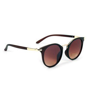 Anyssa Round Classic Sunglasses Brown